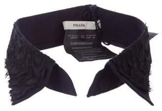 Prada 2008 Poplin Lace Collar black 2008 Poplin Lace Collar