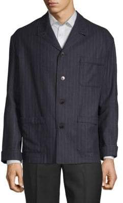 Valentino Pinstriped Buttoned Sportcoat