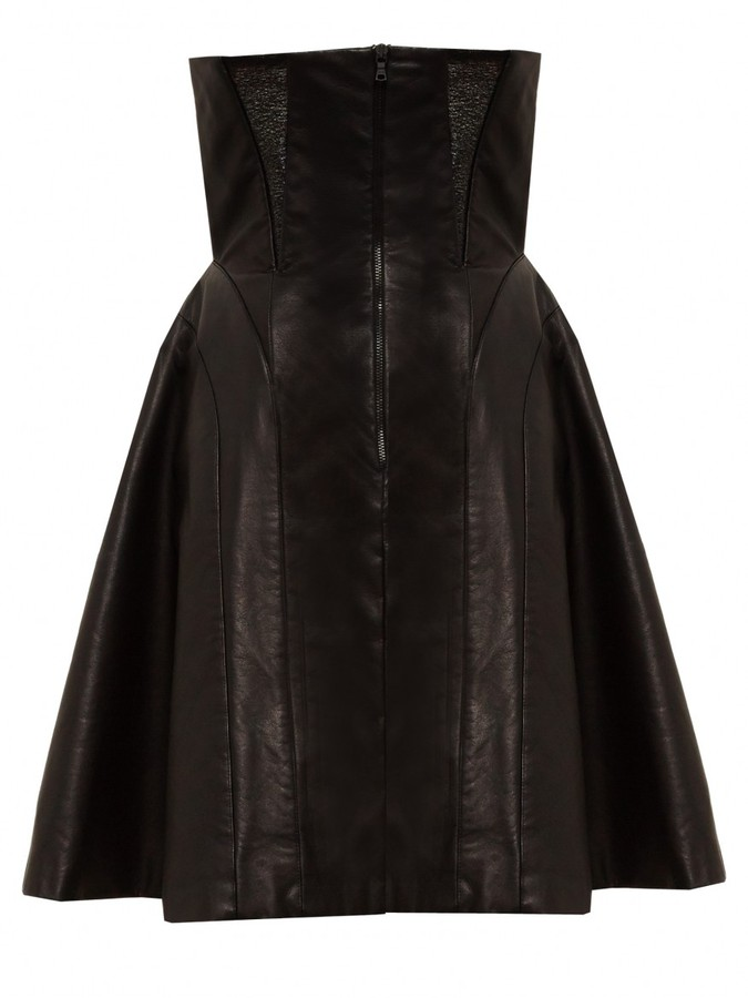 Alice + Olivia Hattie Leather Gown