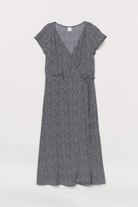 H&M Calf-length wrap dress