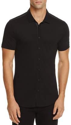 John Varvatos Collection Pima Cotton Knit Slim Fit Button-Down Shirt