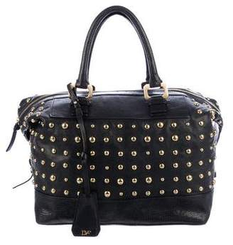 Diane von Furstenberg Studded Leather Satchel