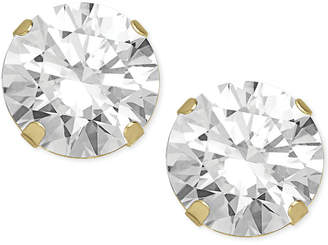Macy's Swarovski Zirconia Round Stud Earrings in 14k Gold (2 ct. t.w.)
