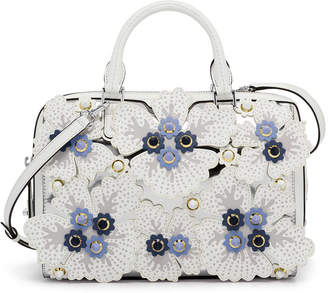 Henri Bendel West 57Th Floral Applique Barrel Satchel