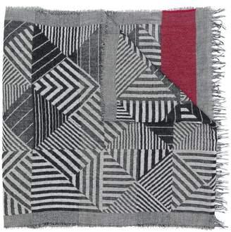 Daniele Alessandrini geometric pattern scarf