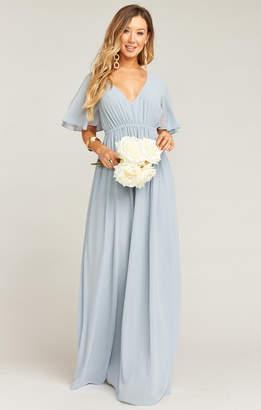 27692651ad7 Show Me Your Mumu Emily Empire Maxi Dress ~ Steel Blue Chiffon