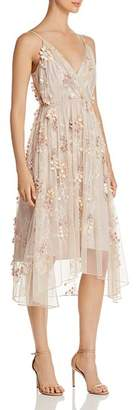 Elie Tahari Lisandra Floral Appliqué Dress