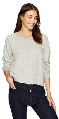 Wilt Women's Mock Layered Sweatshirt