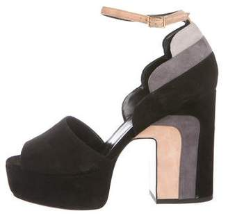 Pierre Hardy Suede Platform Sandals