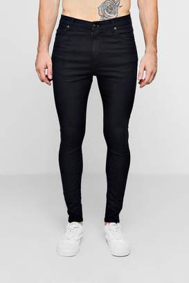 boohoo Black Spray On Skinny Jeans