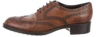 Tod's Leather Brogue Oxfords