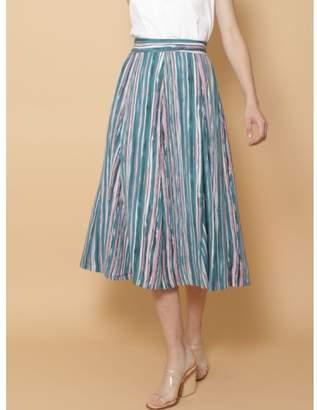 LAGUNAMOON (ラグナムーン) - LAGUNAMOON Paintingストライプ フレアースカート