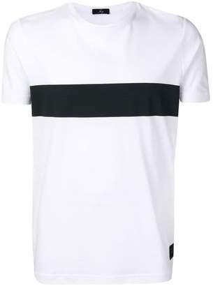 Fay contrast stripe T-shirt