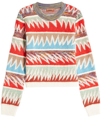 Missoni Pullover with Wool, Mohair and Alpaca