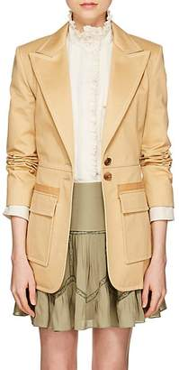 Chloé WOMEN'S TOPSTITCHED COTTON GABARDINE JACKET