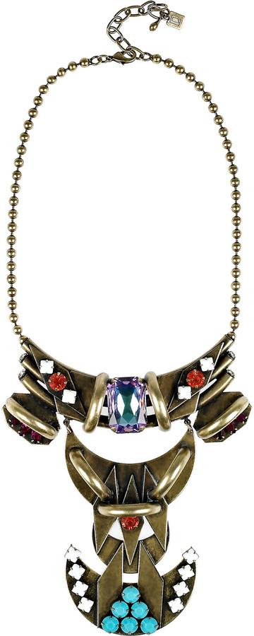 Dannijo Cota oxidized brass Swarovski crystal necklace