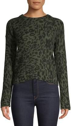 Rails Leopard-Print Wool-Blend Sweater