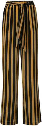 Rockins tie waist striped trousers