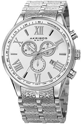Akribos XXIV Men's Quartz Stainless Steel Casual Watch