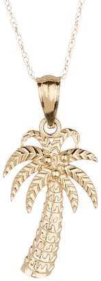 Candela 10K Yellow Gold Palm Tree Pendant Necklace