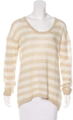 Iris & Ink Cashmere Striped Sweater