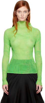 Issey Miyake Green Plasma Twist Turtleneck