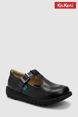 Next Girls Kickers Black Leather Kick T-Bar Shoe