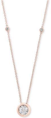 "Effy Bubbles by Diamond Bezel 18"" Pendant Necklace (1/2 ct. t.w.) in 14k White Gold"