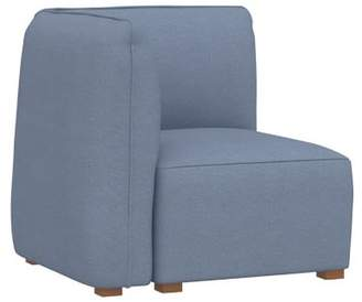 Pottery Barn Teen Bryce Lounge Corner Chair, Storm Blue Enzyme Washed Canvas, QS EXEL