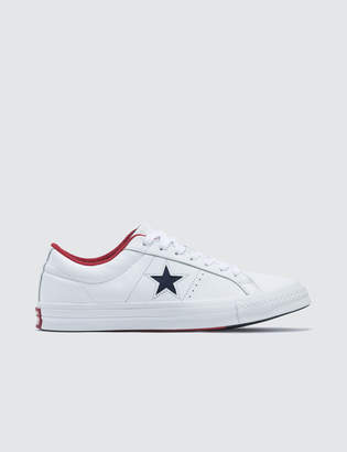 923247375a94 White Leather Converse - ShopStyle UK