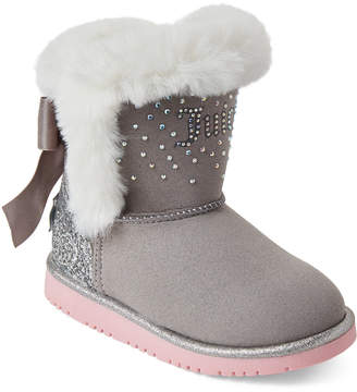 Juicy Couture Toddler Girls) Grey Lil Burbank Faux Suede Boots