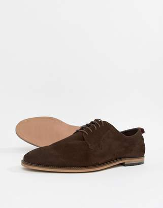 Asos (エイソス) - ASOS DESIGN lace up shoes in brown suede with natural sole