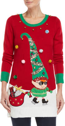 It's Our Time Garland Elf Christmas Sweater