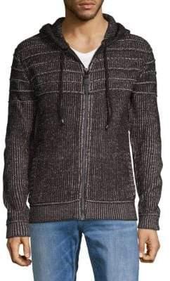 ProjekRaw Knit Zipper Hoodie