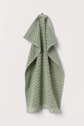 H&M Jacquard-patterned Hand Towel - Green