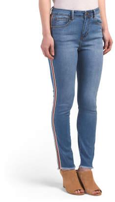 Juniors Side Stripe High Waist Jeans
