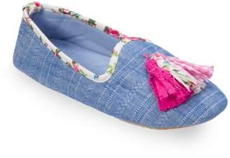 Dearfoams Women's Tassel Loafer Slippers