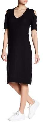 C&C California Mindi Cold Shoulder Slouchy Midi Dress