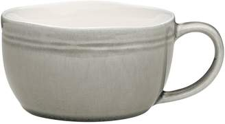 Linea Ecology Crackle Glaze Soup Mug, 450ml (Set of 4), Mineral
