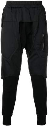 Julius dropped crotch cropped trousers