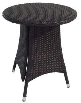 Benasse Diamond Wicker/Rattan Bistro Table Benasse