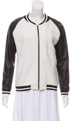 Jet John Eshaya Leather-Accented Zip-Up Jacket