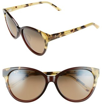 Women's Maui Jim Sunshine 56Mm Polarizedplus2 Sunglasses - Marsala Tokyo Tortoise/ Bronze $319 thestylecure.com