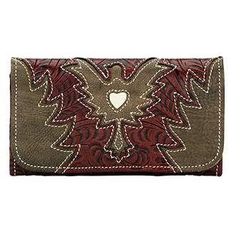 American West Eagle Heart Wallet