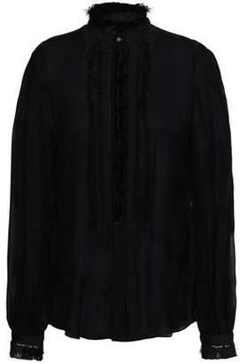Roberto Cavalli Tasseled Silk-voile Blouse