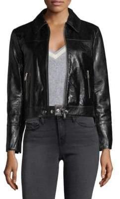 Frame Leather Buckle Back Jacket