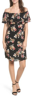 Women's Everly Ruffle Off The Shoulder Dress $55 thestylecure.com