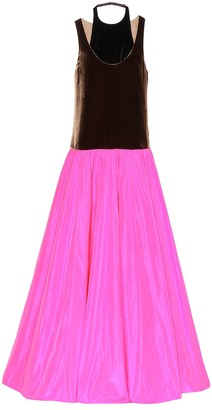 Valentino Color-blocked gown