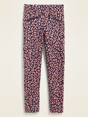 Old Navy High-Waisted Printed Zip Faux-Pocket Stevie Pants for Girls