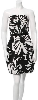 Kaufman Franco Kaufmanfranco Printed Belted Dress
